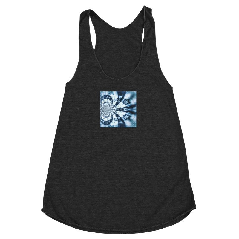 abstract square - art 1 Women's Racerback Triblend Tank by pixeldelta's Artist Shop
