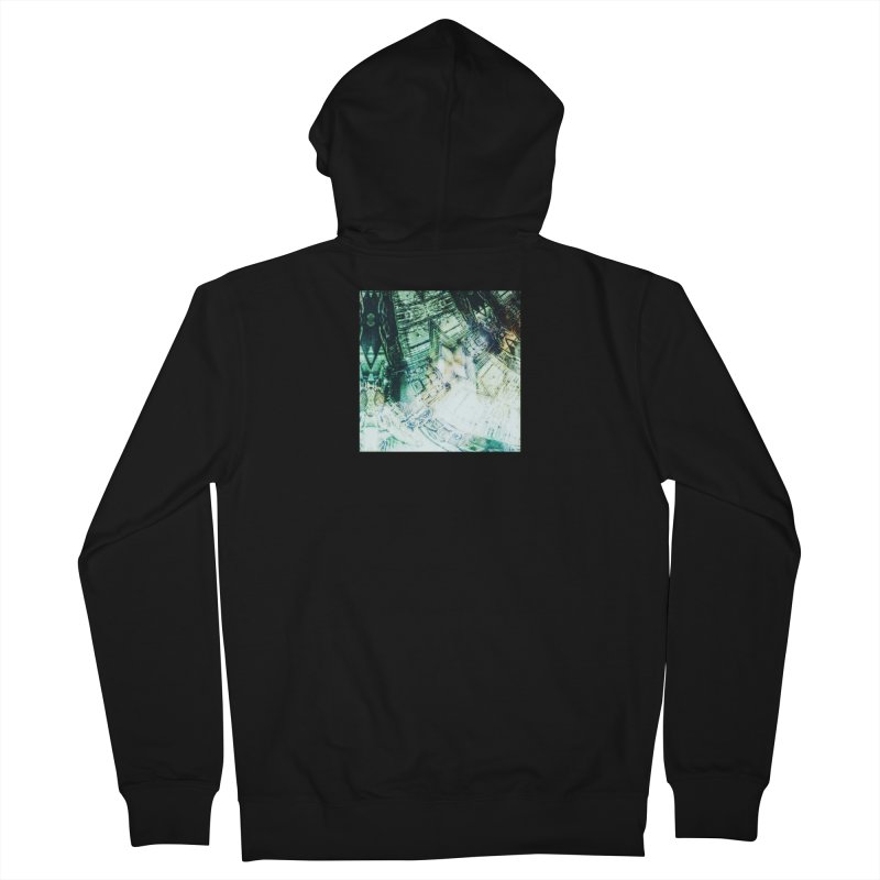 abstract square - art 2 Men's Zip-Up Hoody by pixeldelta's Artist Shop
