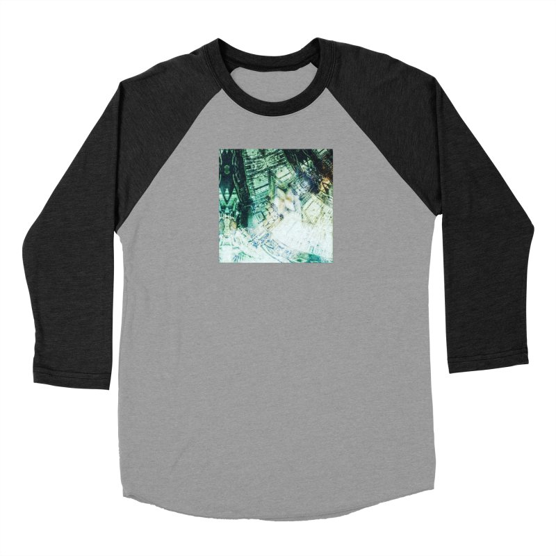 abstract square - art 2 Men's Baseball Triblend T-Shirt by pixeldelta's Artist Shop
