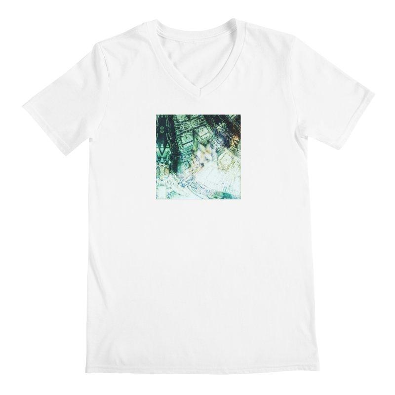 abstract square - art 2 Men's V-Neck by pixeldelta's Artist Shop