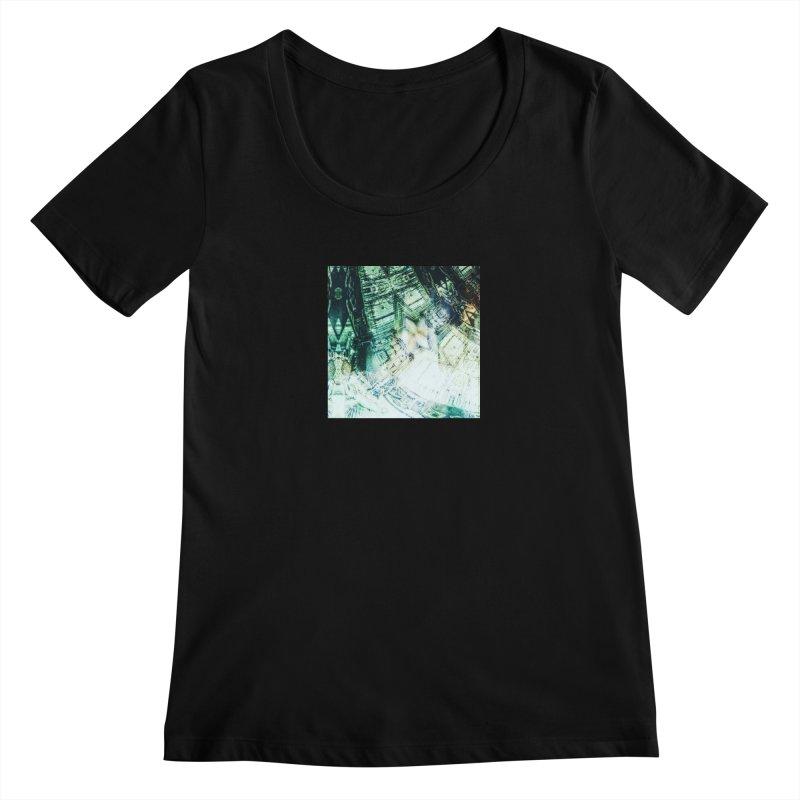 abstract square - art 2 Women's Scoopneck by pixeldelta's Artist Shop