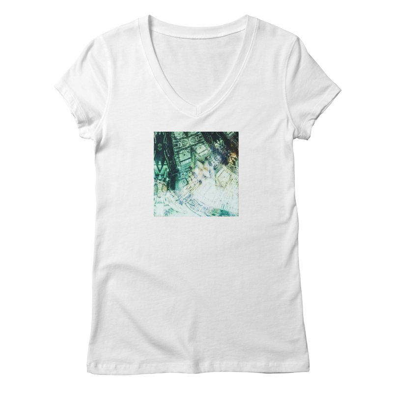 abstract square - art 2 Women's V-Neck by pixeldelta's Artist Shop