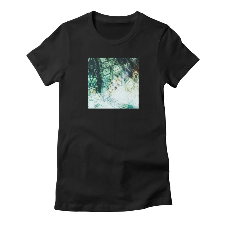 abstract square - art 2 Women's Fitted T-Shirt by pixeldelta's Artist Shop