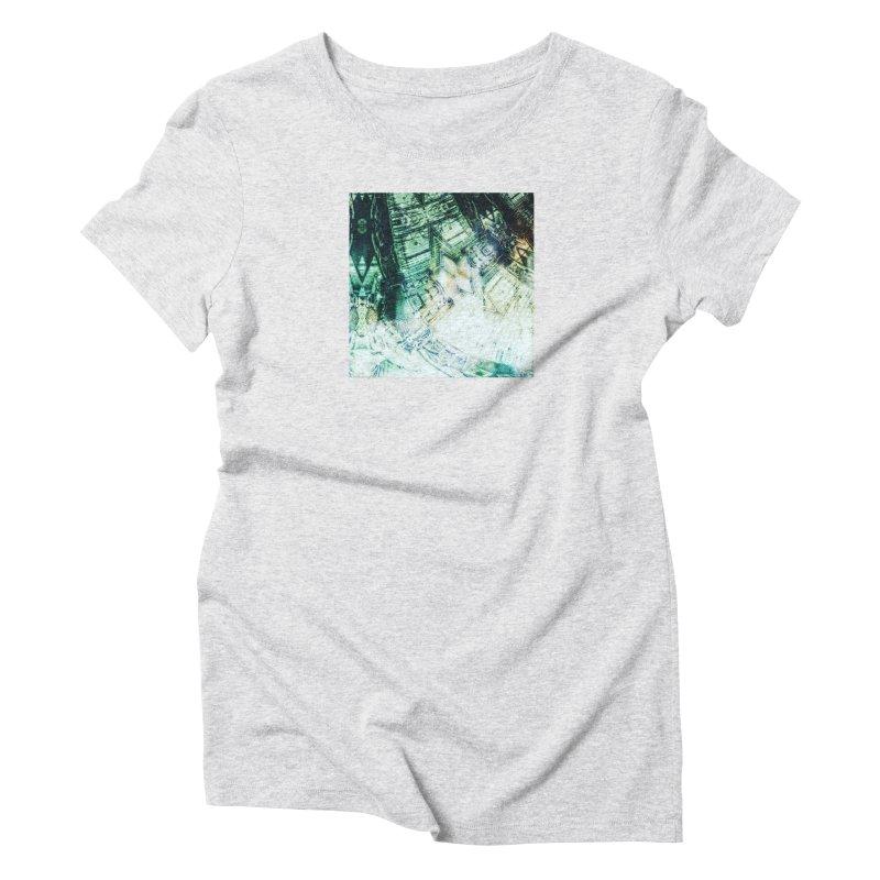 abstract square - art 2 Women's Triblend T-Shirt by pixeldelta's Artist Shop