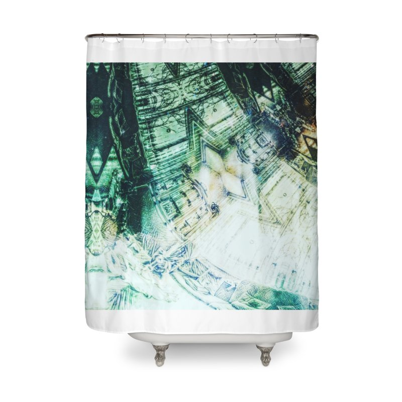abstract square - art 2 Home Shower Curtain by pixeldelta's Artist Shop