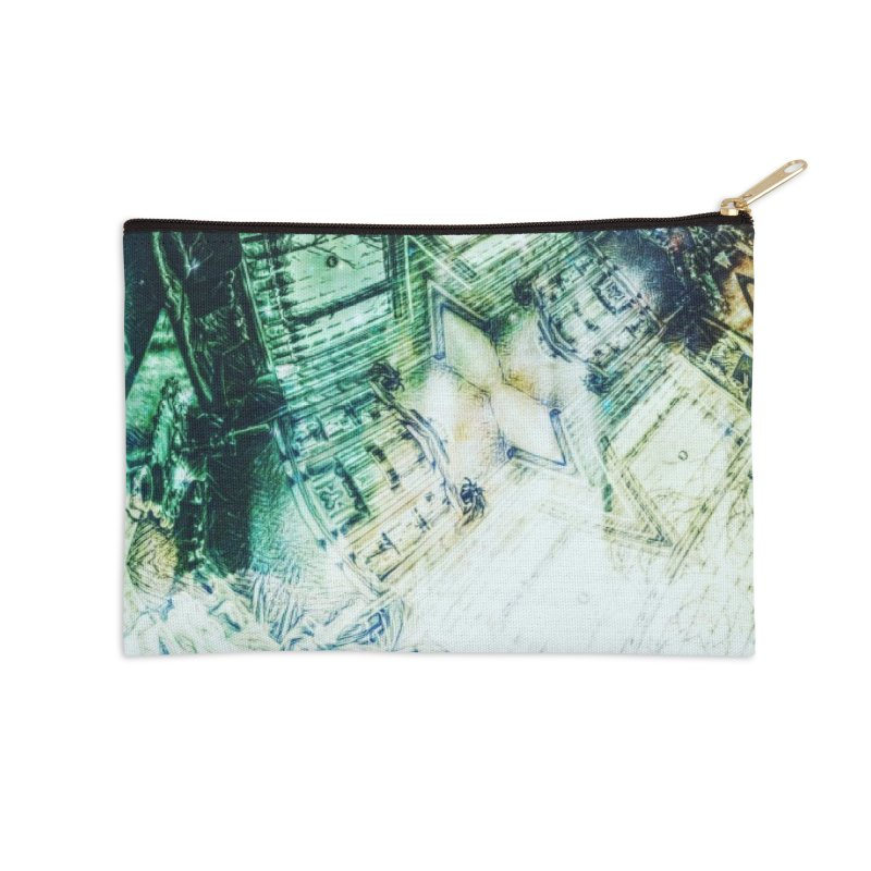 abstract square - art 2 Accessories Zip Pouch by pixeldelta's Artist Shop