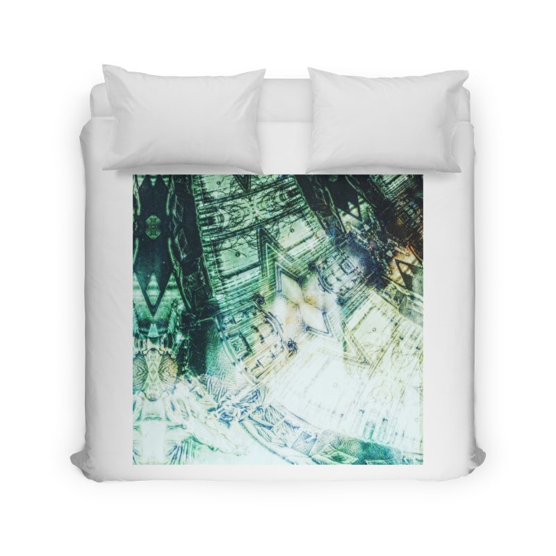 abstract square - art 2 Home Duvet by pixeldelta's Artist Shop
