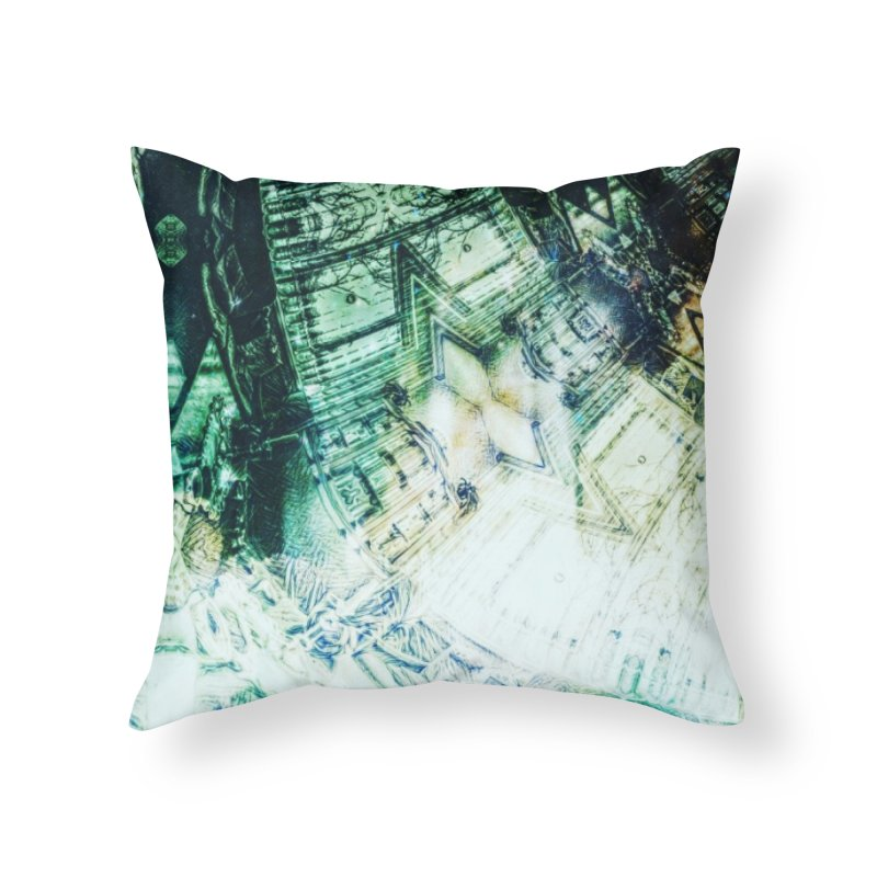 abstract square - art 2 Home Throw Pillow by pixeldelta's Artist Shop