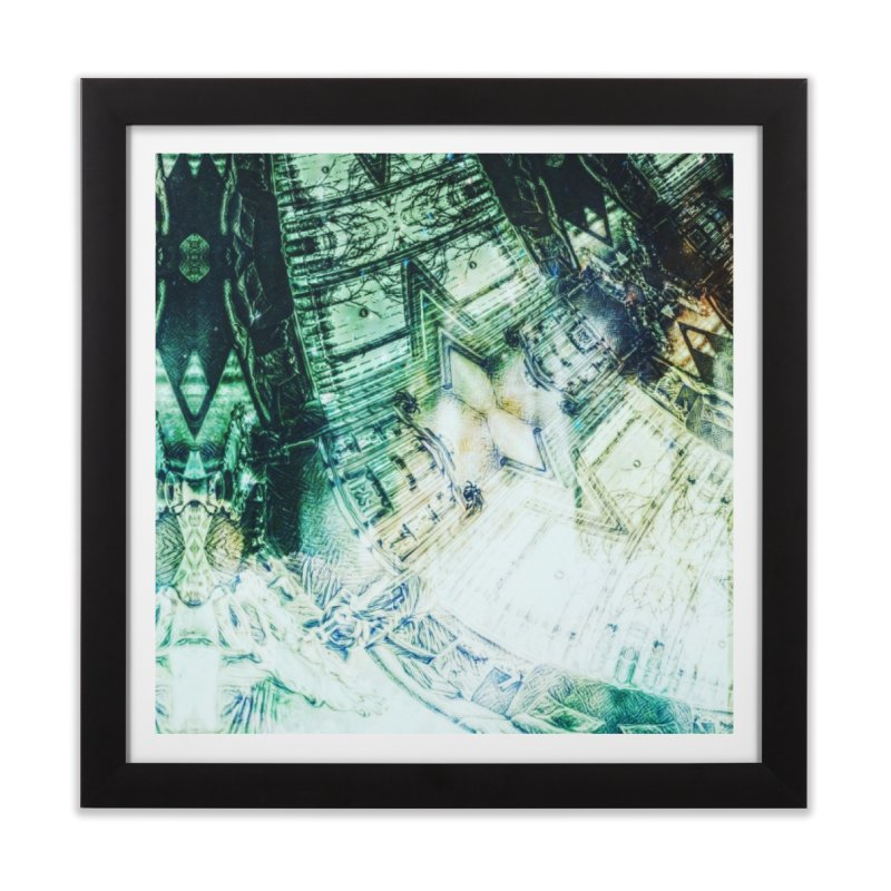 abstract square - art 2 Home Framed Fine Art Print by pixeldelta's Artist Shop