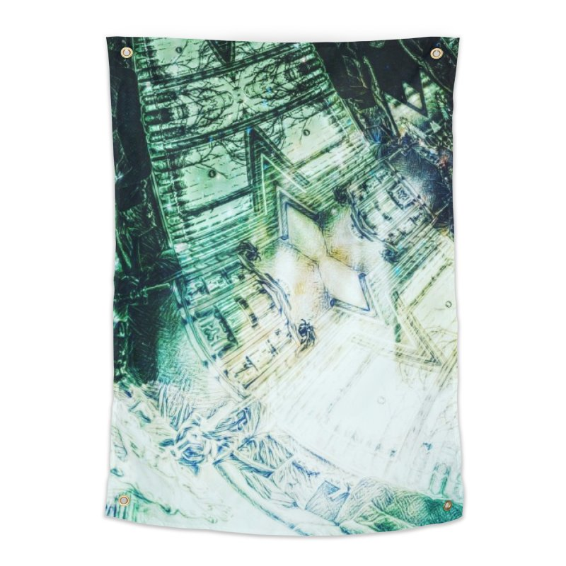 abstract square - art 2 Home Tapestry by pixeldelta's Artist Shop