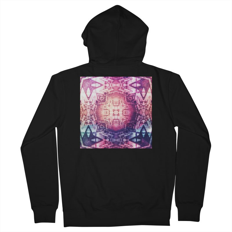 abstract square - art 3 Men's Zip-Up Hoody by pixeldelta's Artist Shop
