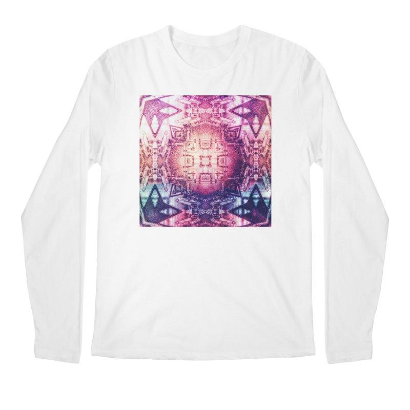 abstract square - art 3 Men's Regular Longsleeve T-Shirt by pixeldelta's Artist Shop