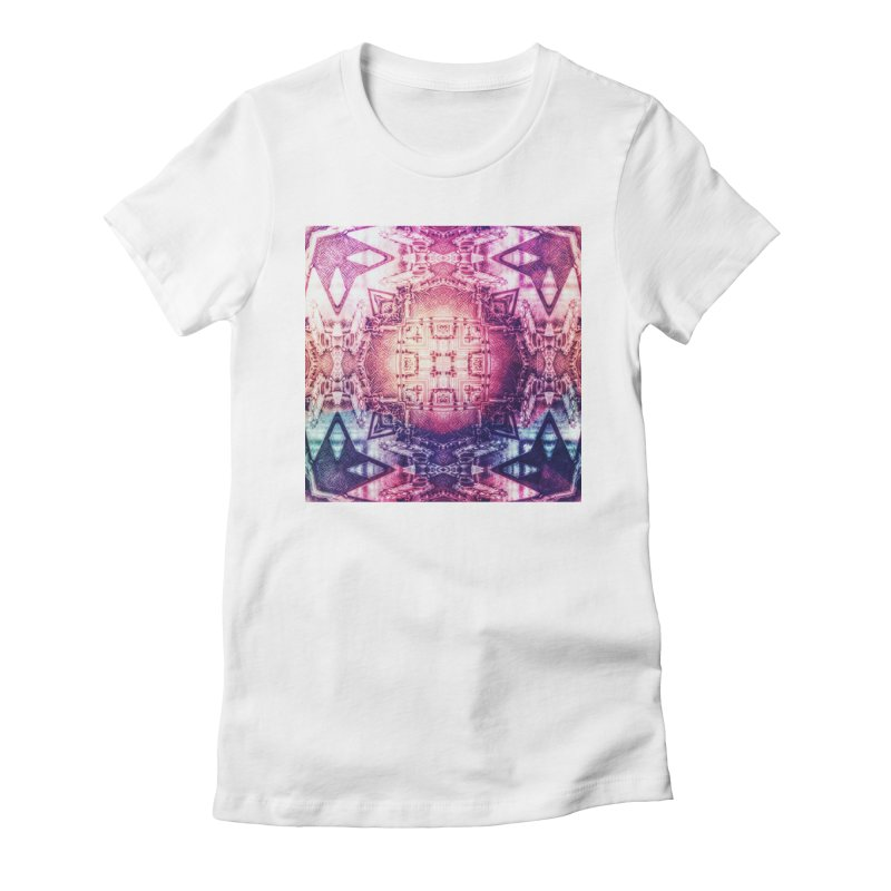 abstract square - art 3 Women's Fitted T-Shirt by pixeldelta's Artist Shop