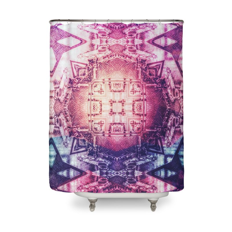 abstract square - art 3 Home Shower Curtain by pixeldelta's Artist Shop
