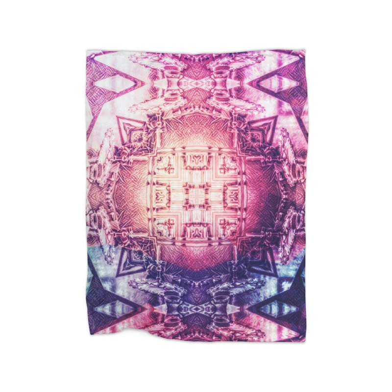 abstract square - art 3 Home Blanket by pixeldelta's Artist Shop