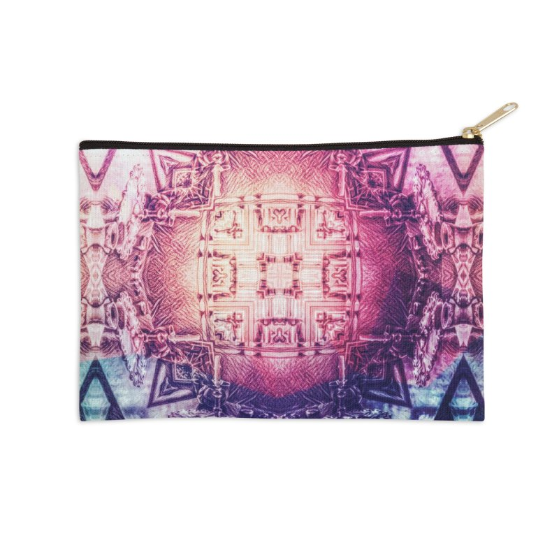 abstract square - art 3 Accessories Zip Pouch by pixeldelta's Artist Shop