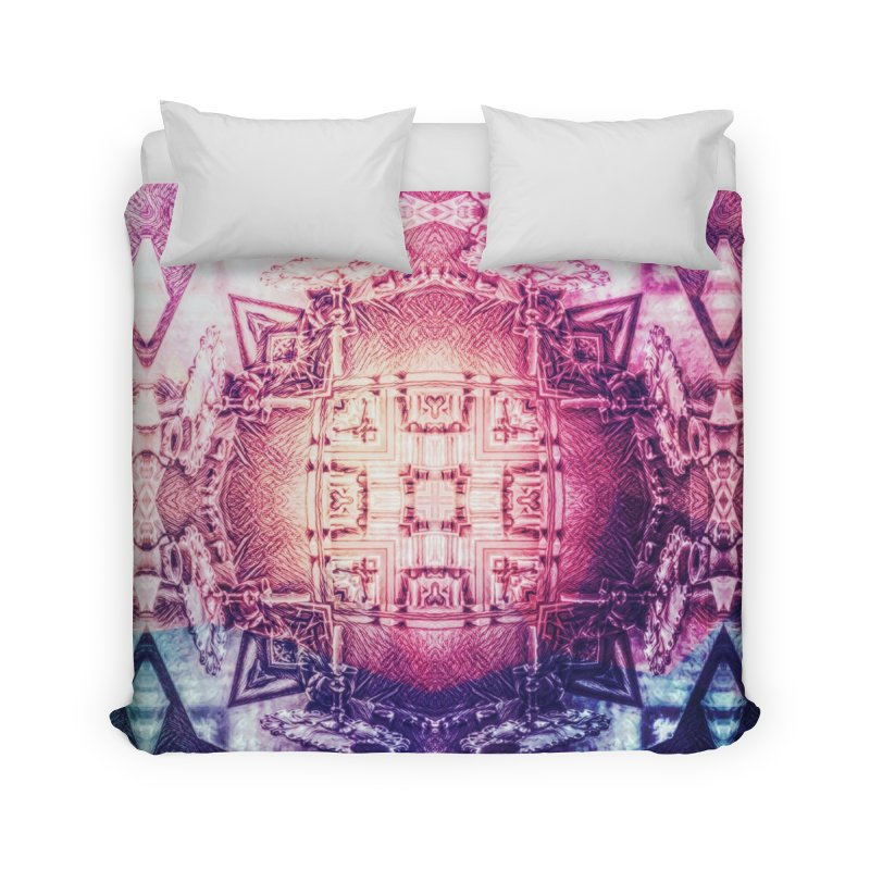 abstract square - art 3 Home Duvet by pixeldelta's Artist Shop