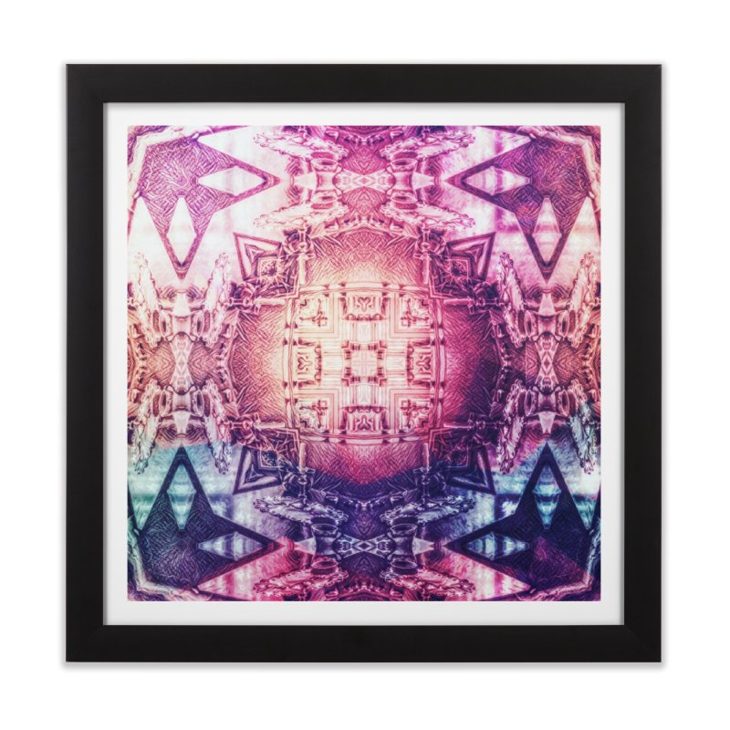 abstract square - art 3 Home Framed Fine Art Print by pixeldelta's Artist Shop