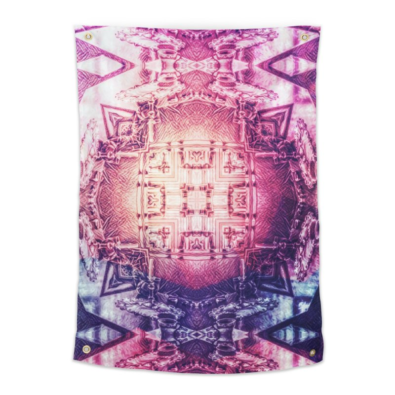 abstract square - art 3 Home Tapestry by pixeldelta's Artist Shop