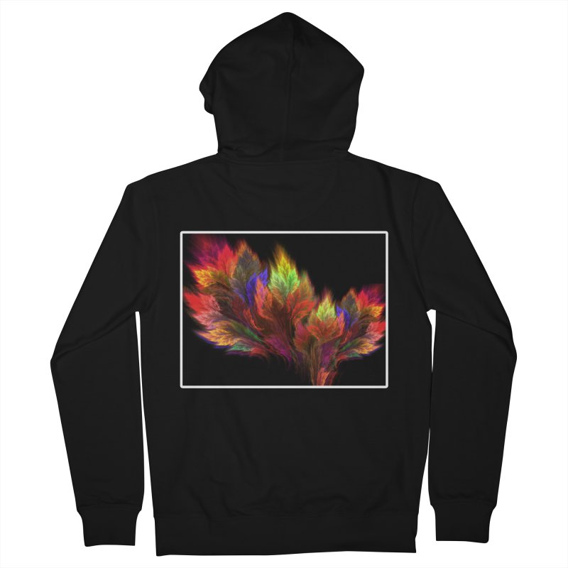 A visit in the Paradise Men's Zip-Up Hoody by pixeldelta's Artist Shop