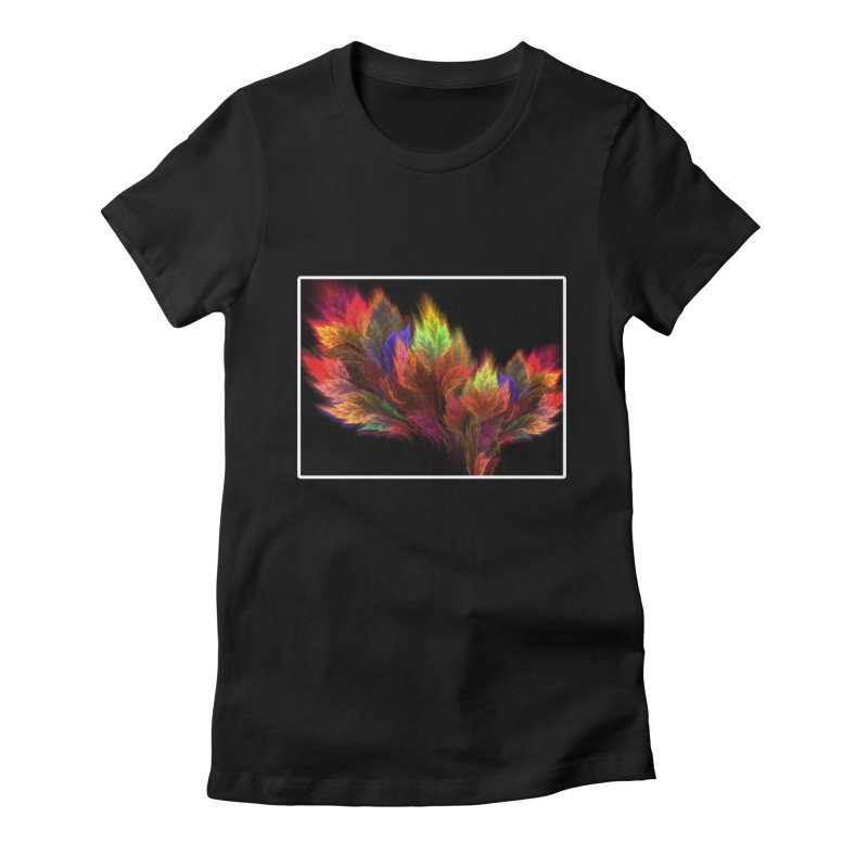 A visit in the Paradise Women's Fitted T-Shirt by pixeldelta's Artist Shop