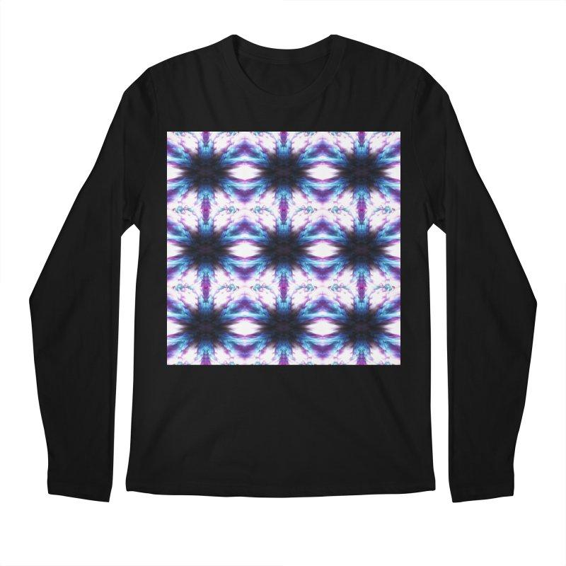 Crystals Men's Regular Longsleeve T-Shirt by pixeldelta's Artist Shop