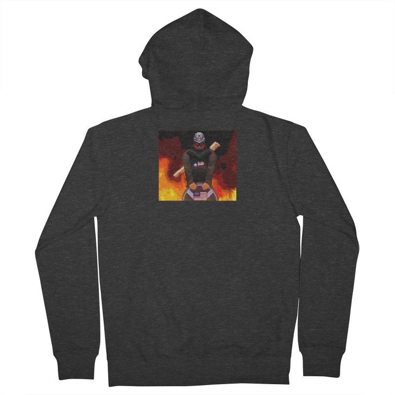 Based Stickman Pixel Art Women's French Terry Zip-Up Hoody by Pixel Panzers's Merchandise