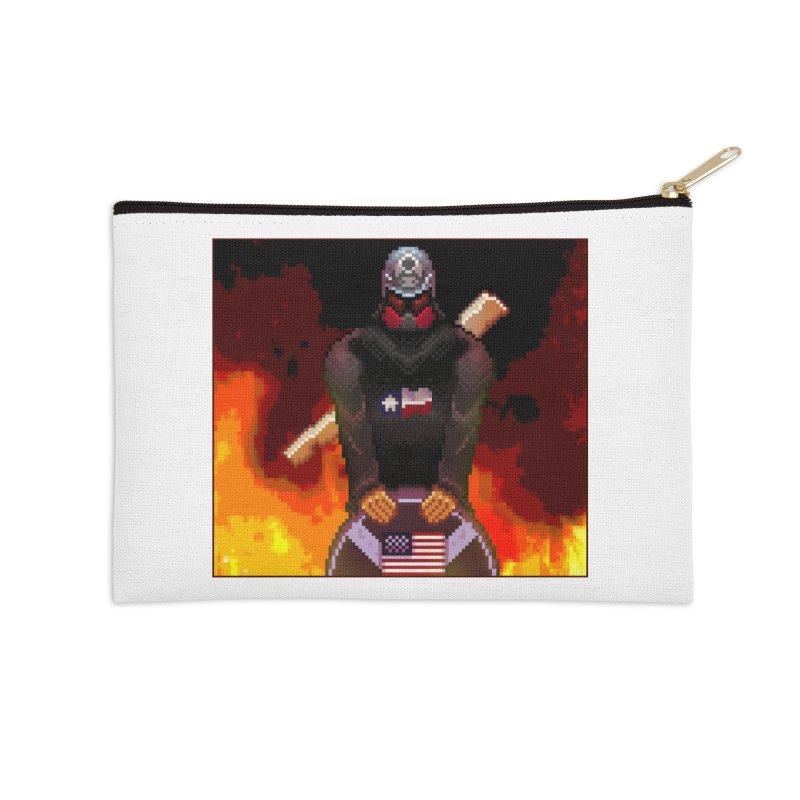 Based Stickman Pixel Art Accessories Zip Pouch by Pixel Panzers's Merchandise