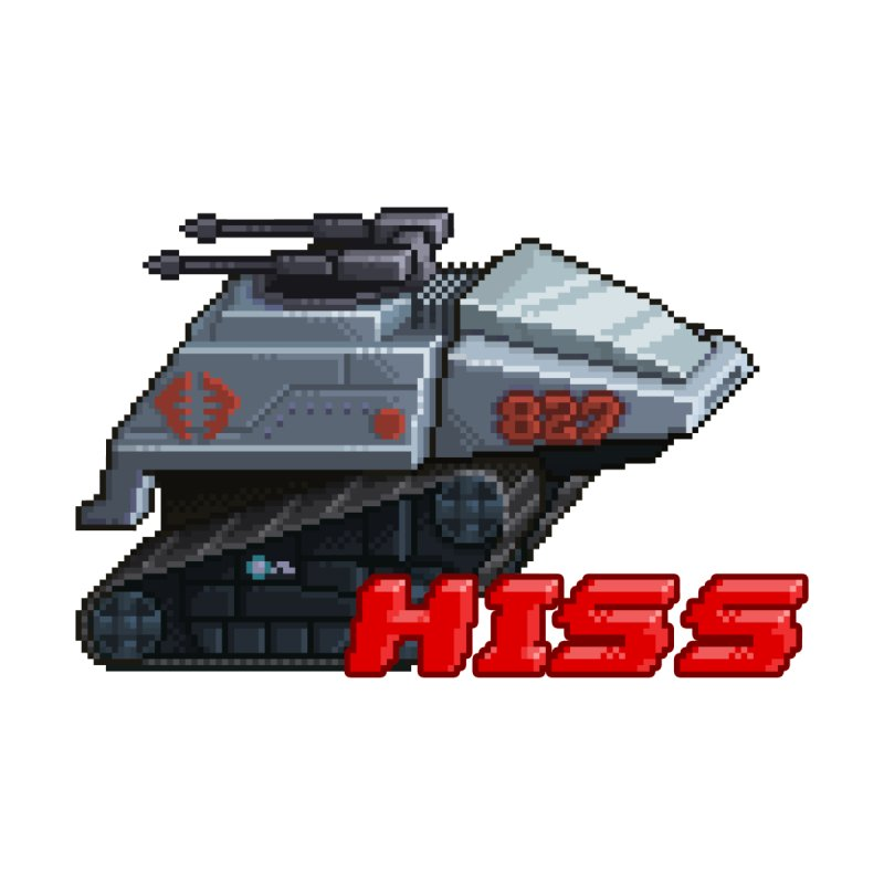 Pixel Art Hiss Vehicle Home Stretched Canvas by Pixel Panzers's Merchandise