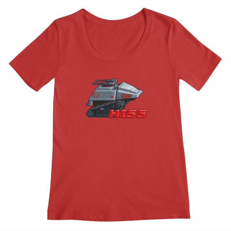 Pixel Art Hiss Vehicle Women's Regular Scoop Neck by Pixel Panzers's Merchandise