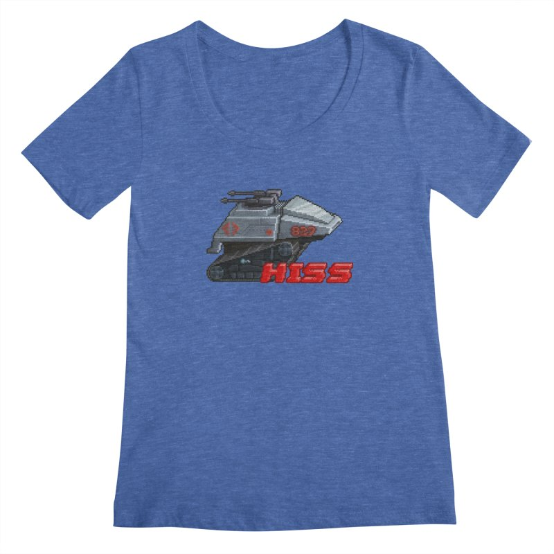 Pixel Art Hiss Vehicle Women's Scoopneck by Pixel Panzers's Merchandise