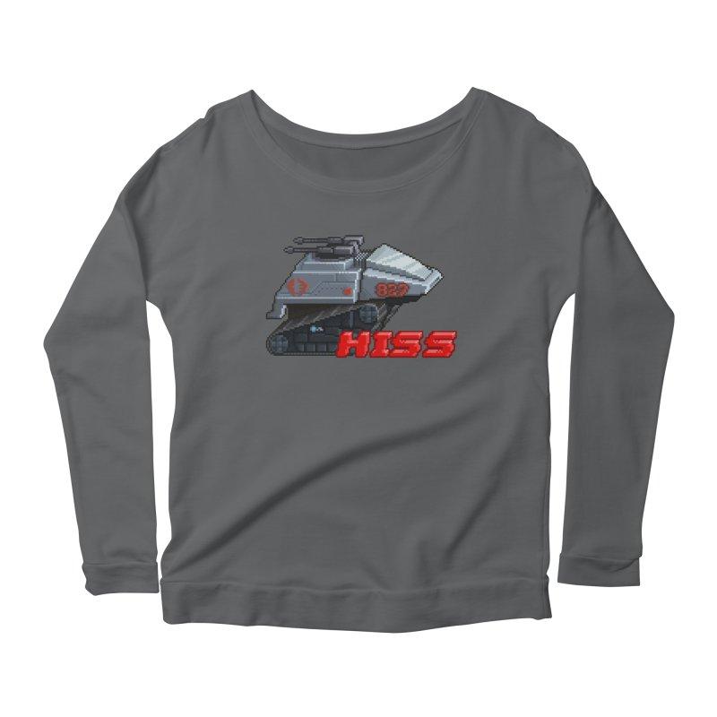 Pixel Art Hiss Vehicle Women's Scoop Neck Longsleeve T-Shirt by Pixel Panzers's Merchandise