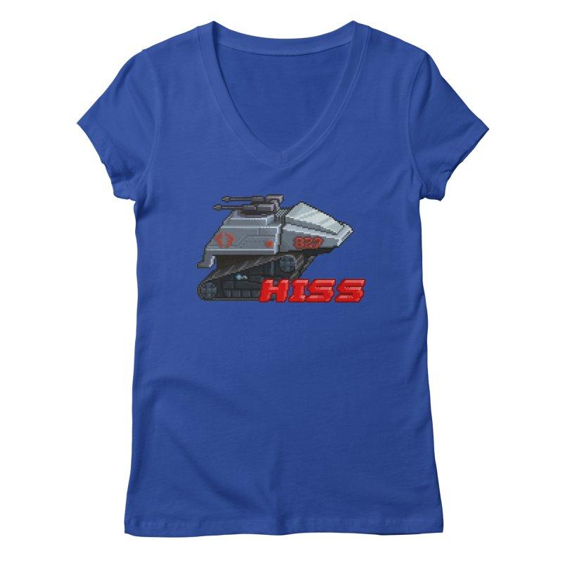 Pixel Art Hiss Vehicle Women's Regular V-Neck by Pixel Panzers's Merchandise