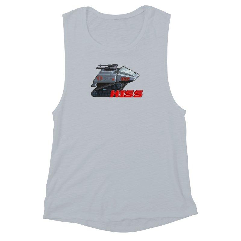 Pixel Art Hiss Vehicle Women's Muscle Tank by Pixel Panzers's Merchandise