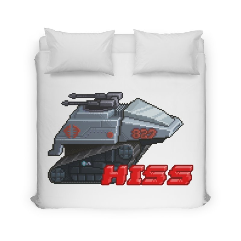 Pixel Art Hiss Vehicle Home Duvet by Pixel Panzers's Merch Emporium