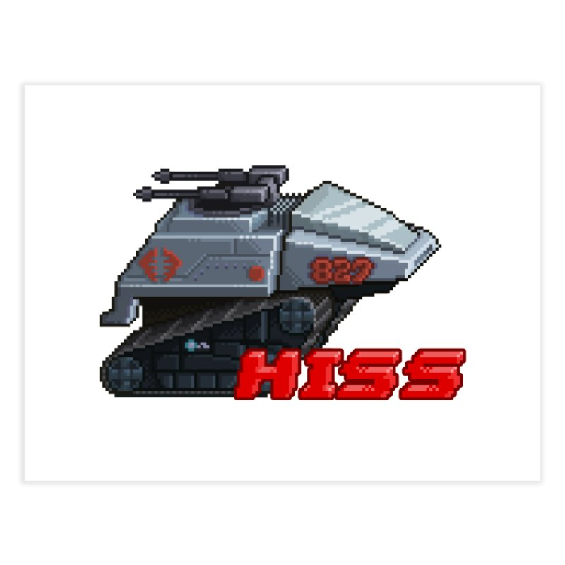 Pixel Art Hiss Vehicle Home Fine Art Print by Pixel Panzers's Merch Emporium