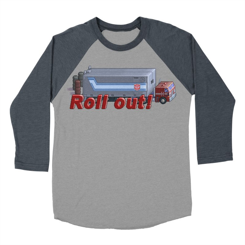 Transform and Roll out! Women's Baseball Triblend Longsleeve T-Shirt by Pixel Panzers's Merchandise