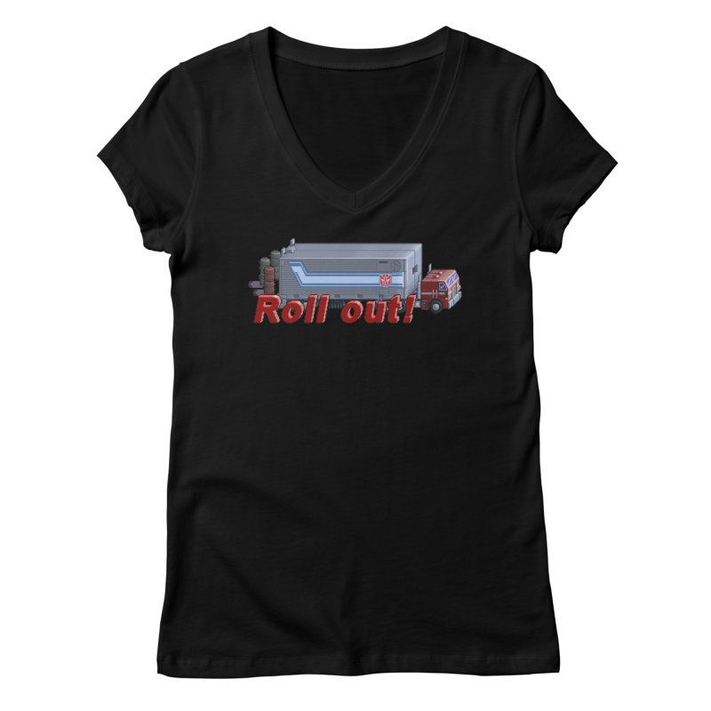 Transform and Roll out! Women's Regular V-Neck by Pixel Panzers's Merchandise