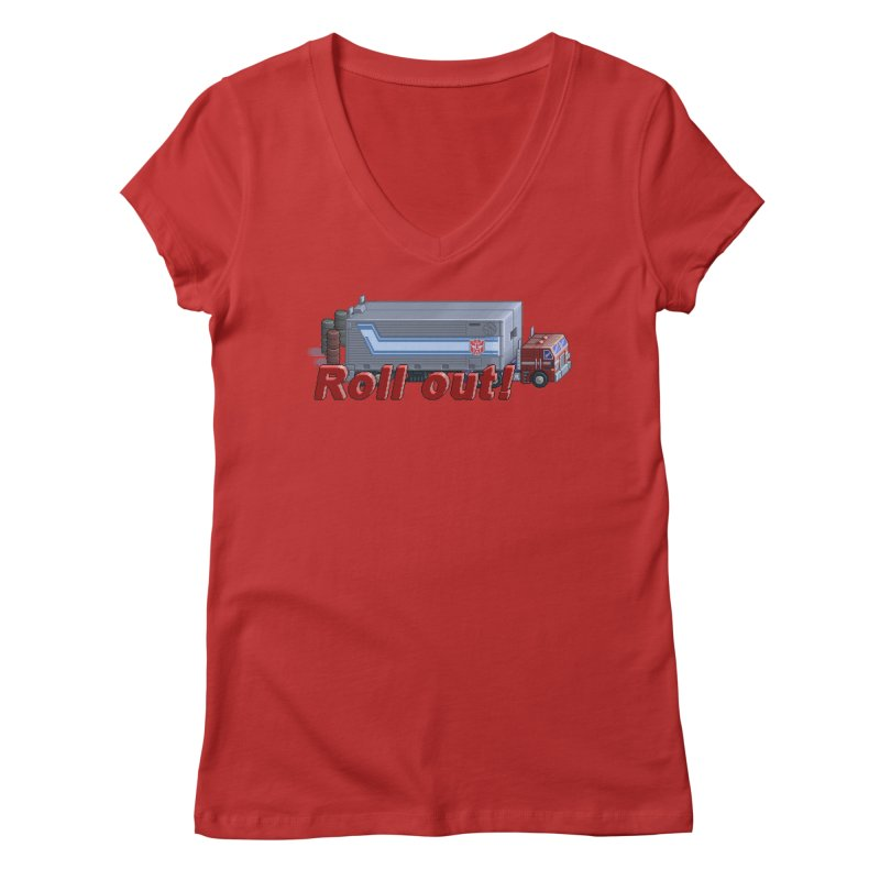 Transform and Roll out! Women's V-Neck by Pixel Panzers's Merchandise