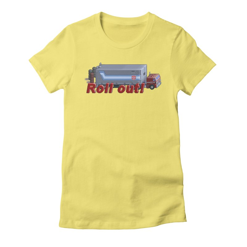 Transform and Roll out! Women's Fitted T-Shirt by Pixel Panzers's Merchandise