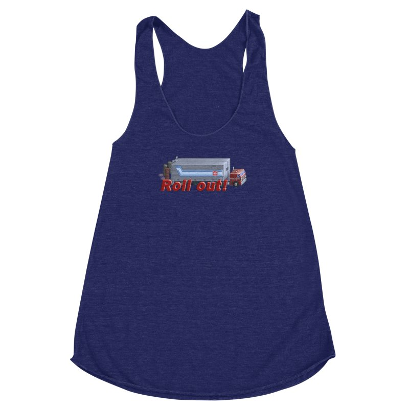 Transform and Roll out! Women's Racerback Triblend Tank by Pixel Panzers's Merchandise