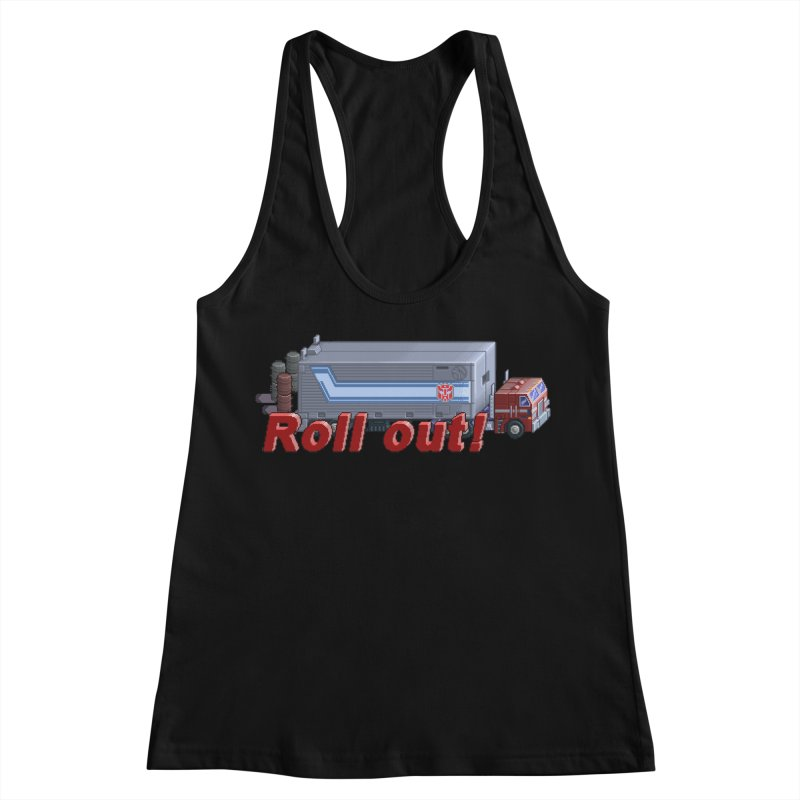 Transform and Roll out! Women's Racerback Tank by Pixel Panzers's Merchandise