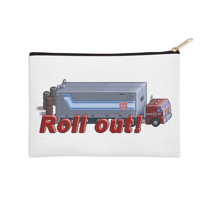 Transform and Roll out! Accessories Zip Pouch by Pixel Panzers's Merch Emporium