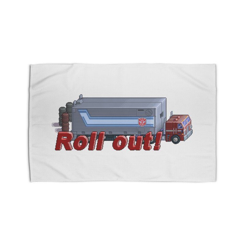 Transform and Roll out! Home Rug by Pixel Panzers's Merch Emporium