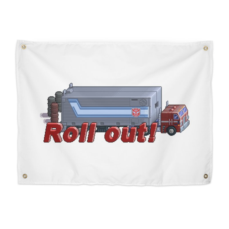 Transform and Roll out! Home Tapestry by Pixel Panzers's Merchandise