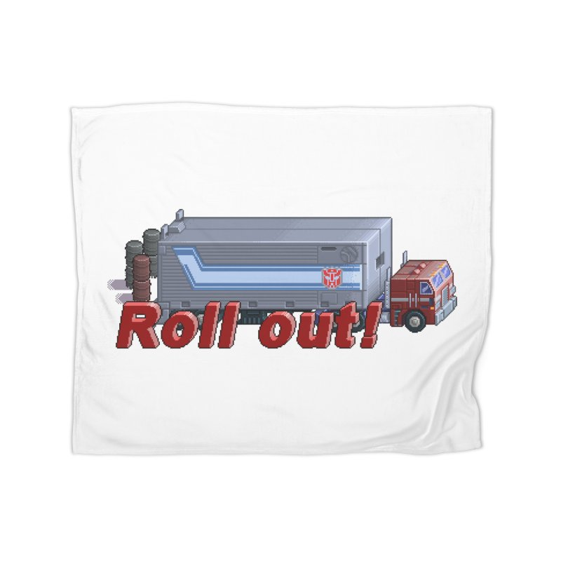 Transform and Roll out! Home Fleece Blanket Blanket by Pixel Panzers's Merchandise