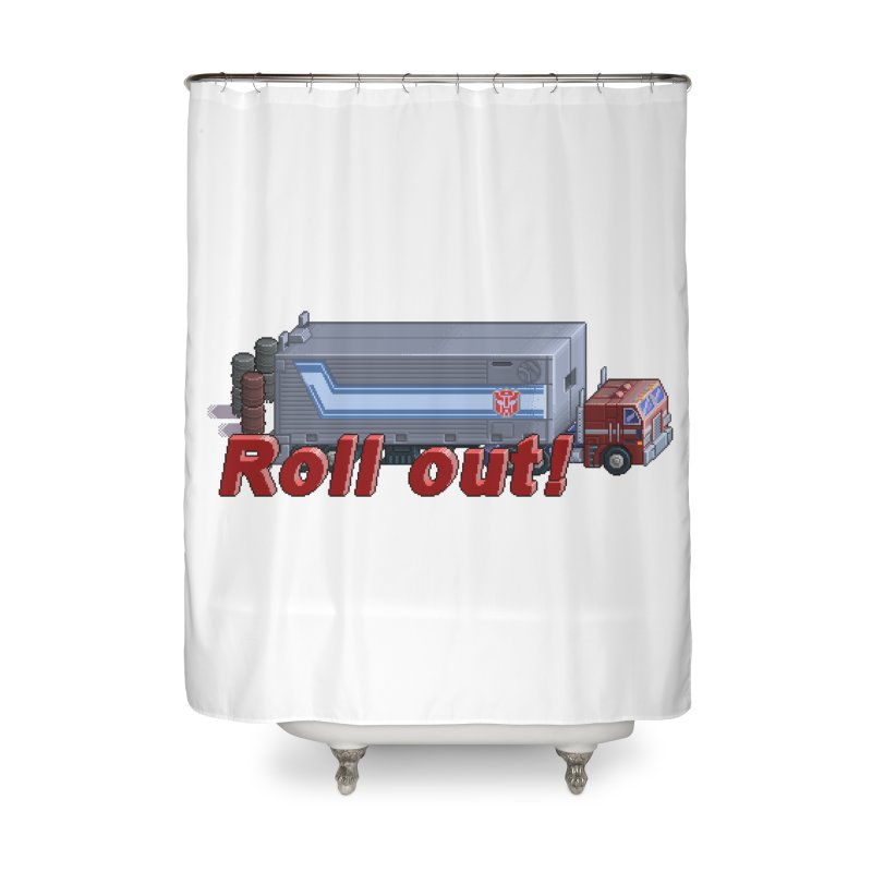 Transform and Roll out! Home Shower Curtain by Pixel Panzers's Merchandise