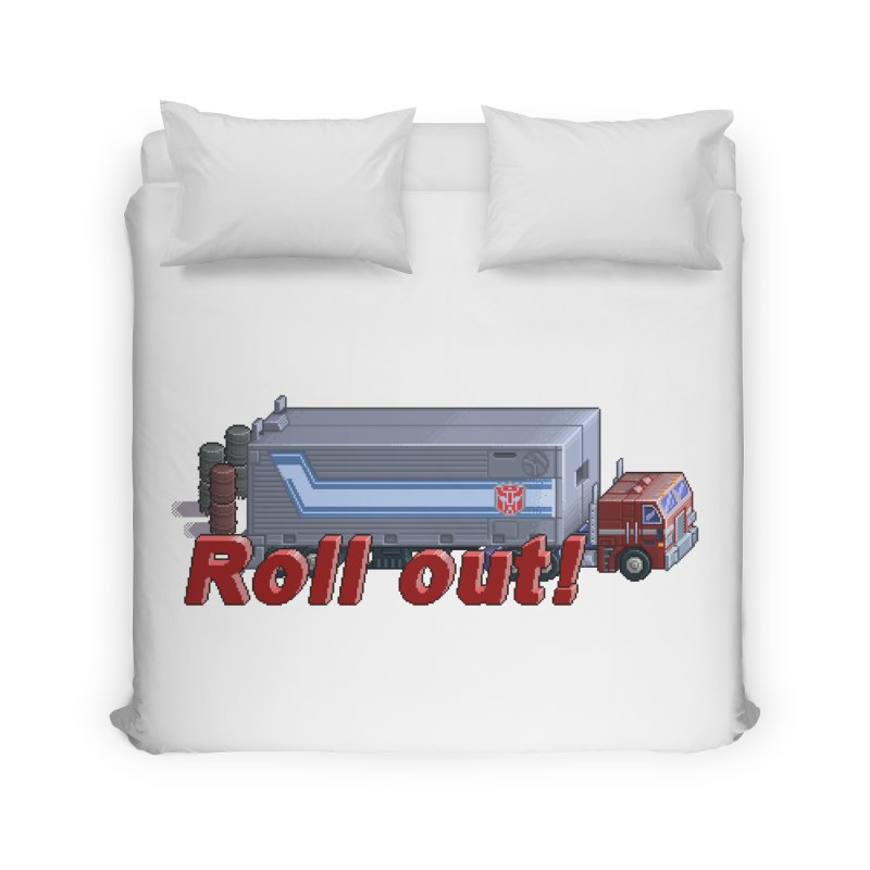 Transform and Roll out! Home Duvet by Pixel Panzers's Merch Emporium