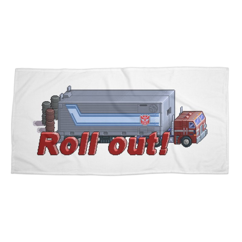 Transform and Roll out! Accessories Beach Towel by Pixel Panzers's Merchandise