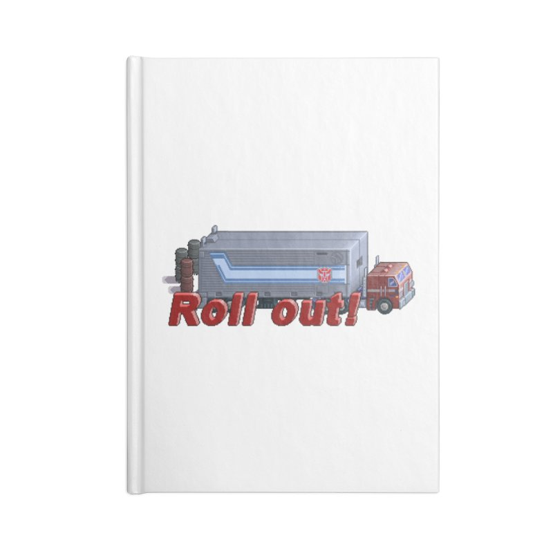 Transform and Roll out! Accessories Notebook by Pixel Panzers's Merch Emporium